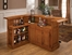 Large Oak Bar with Side Bar - 62576AXOAK