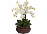 Large Phalaenopsis Silk Flower Arrangement - Nearly Natural - 1201-CR