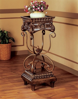 Large Plant Stand in Dark Oak - 900109