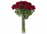 Large Rose Silk Flower Arrangement - Nearly Natural - 1215