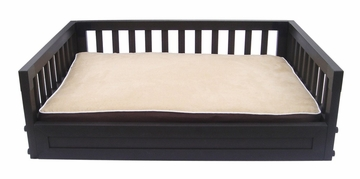 Small Size Habitat 'n Home Mission Dog Bed in Espresso - NewAgeGarden - EHHB102S