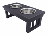 Large Size Habitat 'n Home Mission Pet Diner in Espresso - NewAgeGarden - EHHF102L