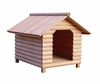 Large Size Log Home Cedar Brown Wood Pet House - Merry Products - EL001-H