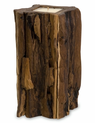 Large Teakwood Candle - IMAX - 51368