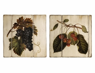 Large Vintage Fruits Wall Panels (Set of 3) - IMAX - 12686-2