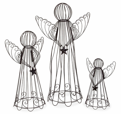 Large Wire Angels (Set of 3) - IMAX - 57945-3