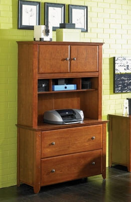 Lateral File Cabinet and Hutch Set - Hudson Valley - O'Sullivan Office Furniture - 11727