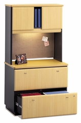 Lateral File Cabinet and Hutch Set - Series A Beech Collection - Bush Office Furniture - WC14354A-37