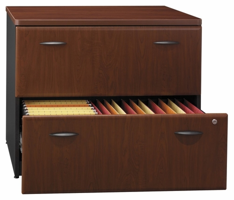 Lateral File Cabinet - Fully Assembled - Series A Hansen Cherry Collection - Bush Office Furniture - WC94454ASU