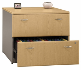 Lateral File Cabinet - Fully Assembled - Series A Light Oak Collection - Bush Office Furniture - WC64354SU
