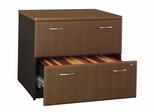 Lateral File Cabinet - Fully Assembled - Series A Walnut Collection - Bush Office Furniture - WC25554SU