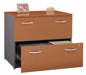 Lateral File Cabinet - Fully Assembled - Series C Auburn Maple Collection - Bush Office Furniture - WC48554ASU