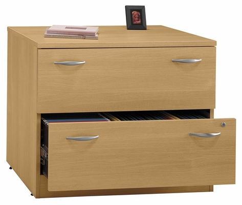 Lateral File Cabinet - Fully Assembled - Series C Light Oak Collection - Bush Office Furniture - WC60354SU