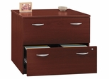Lateral File Cabinet - Fully Assembled - Series C Mahogany Collection - Bush Office Furniture - WC36754SU