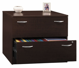 Lateral File Cabinet - Fully Assembled - Series C Mocha Cherry Collection - Bush Office Furniture - WC12954SU
