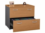 Lateral File Cabinet - Fully Assembled - Series C Natural Cherry Collection - Bush Office Furniture - WC72454ASU