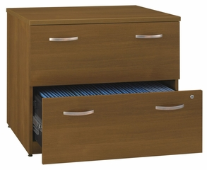 Lateral File Cabinet - Fully Assembled - Series C Warm Oak Collection - Bush Office Furniture - WC67554SU