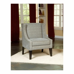 Laurel Accent Chair Cheetah Mocha Blue with Dark Merlot Legs - Largo - LARGO-ST-F0925-436