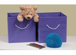 Lavender 2PC Folding Storage Bins Set with White Rope Handles