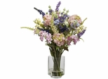 Lavender and Hydrangea Silk Flower Arrangement - Nearly Natural - 4760
