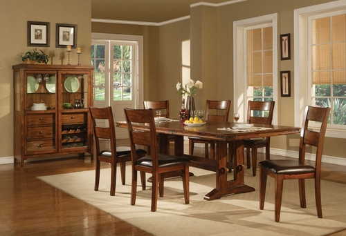 Lavista 8-Piece Dining Room Furniture Set in Dark Oak - Coaster - 102151-4-DSET