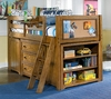 Lea Americana Twin Loft Bed with Chest - 237-964R