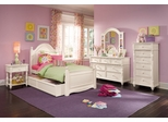 Lea Elite Hannah Twin Panel Bed Bedroom Set in White - 147-931R