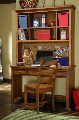 Lea Elite Logan County Desk with Hutch - 139-341