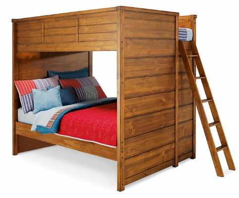 Lea Elite Logan County Full Bunk Bed - Distressed Finish - 139-986R