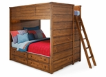 Lea Elite Logan County Full Bunk Bed with 4 Drawers - 139-986R