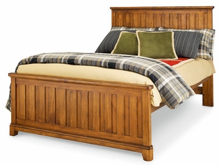 Lea Elite Logan County Full Panel Bed - Distressed Finish - 139-940R
