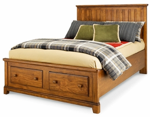 Lea Elite Logan County Full Storage Bed - Distressed Finish - 139-943R