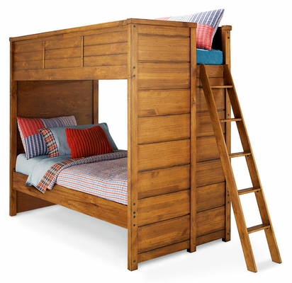 Lea Elite Logan County Twin Bunk Bed - Distressed Finish - 139-976R