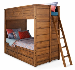 Lea Elite Logan County Twin Bunk Bed with 4 Drawers - 139-976R