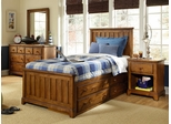 Lea Elite Logan County Twin Captain Bed Bedroom Set - Distressed Finish - 139-930R