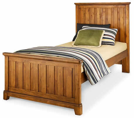 Lea Elite Logan County Twin Panel Bed - Distressed Finish - 139-930R