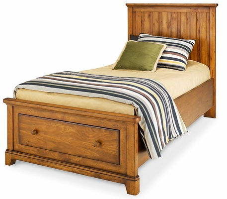 Lea Elite Logan County Twin Storage Bed - Distressed Finish - 139-933R