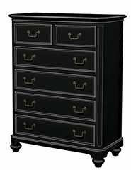 Lea Elite Retreat Black 5 Drawer Chest - 148-151