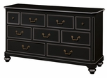 Lea Elite Retreat Black 7 Drawer Dresser - 148-271