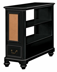 Lea Elite Retreat Black Bookcase Nightstand with Drawer - 148-140
