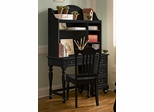 Lea Elite Retreat Black Desk with Hutch - 148-345