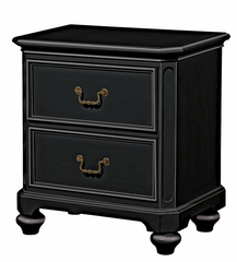 Lea Elite Retreat Black Nightstand with 2 Drawers - 148-421