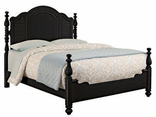 Lea Elite Retreat Black Queen Panel Bed - 148-950R