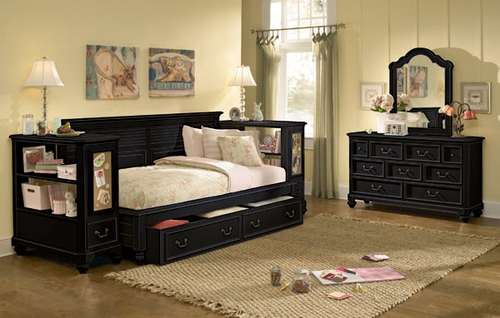 Lea Elite Retreat Black Twin 6PC Bedroom Set - 148-923