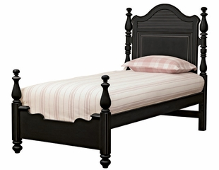 Lea Elite Retreat Black Twin Panel Bed - 148-930R