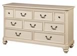 Lea Elite Retreat White 7 Drawer Dresser - 149-271