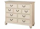 Lea Elite Retreat White Bureau with 9 Drawers - 149-291