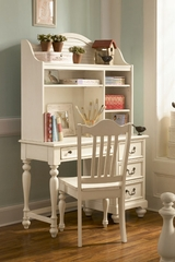 Lea Elite Retreat White Desk with Hutch - 149-345