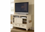 Lea Elite Retreat White Sliding Door Media Chest - 149-110