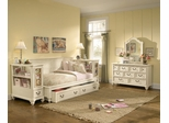 Lea Elite Retreat White Twin Bedroom Set with Bookcase Nightstands - 149-923